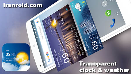 Transparent clock & weather Pro