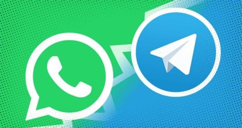 تلگرام با واتساپ WhatsApp